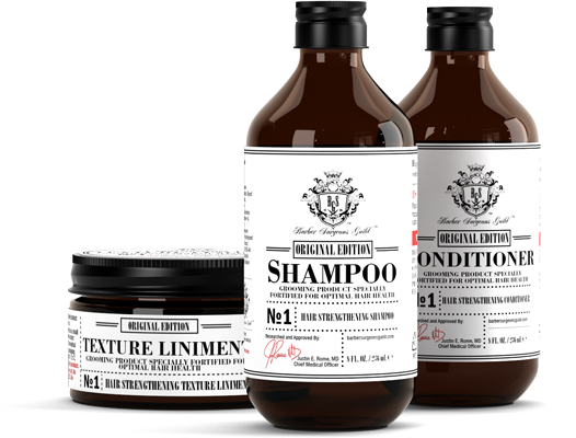 HCO1 Shampoo, Conditioner, and Texture Liniment